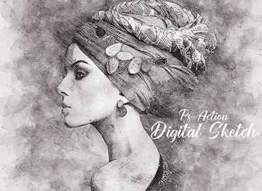 Digital Sketch Photoshop Action