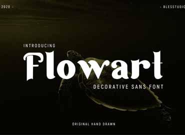 Flowart - Font