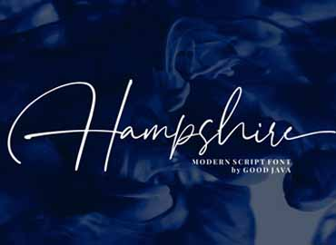 Hampshire - Modern Script Font