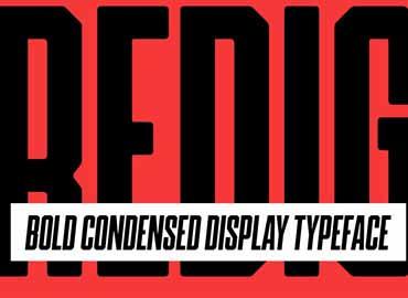 Redig - Bold condensed display font