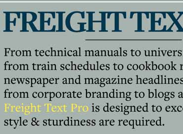 Freight Font