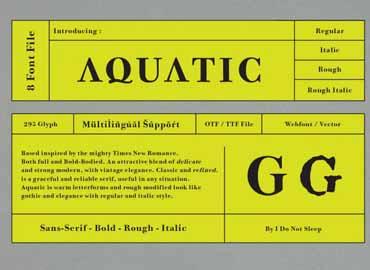 Aquatic Font