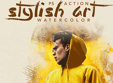 Stylish Art - Watercolor Photoshop Action