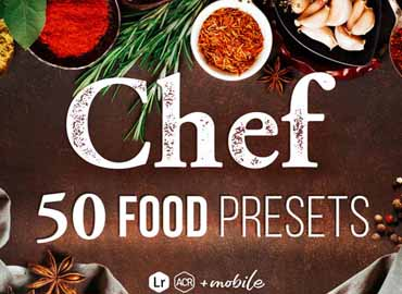 Chef - 50 Food Presets for Lightroom & Photoshop