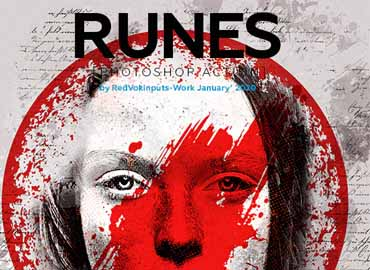Runes Photoshop Action