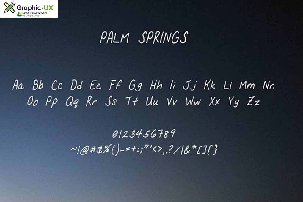 Palm Springs Font