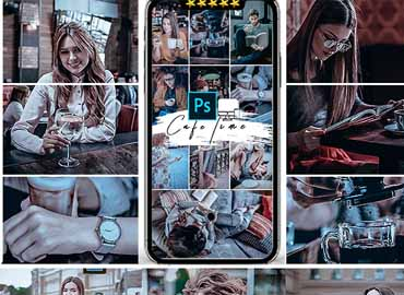 Cafe Mood Photoshop Actions
