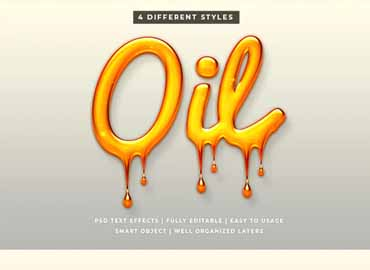 Liquid Oil Text Style Effect