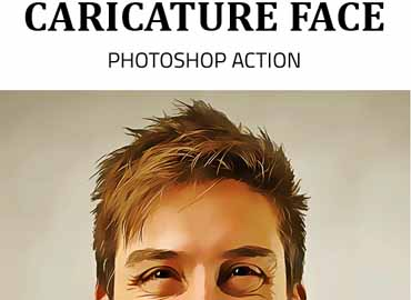 Caricature Face Photoshop Action