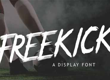 Freekick - Sport Display Font