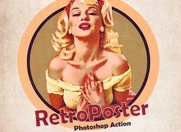 RetroPoster - Photoshop Action