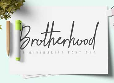 Brotherhood Regular Font