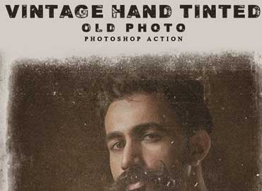 Vintage Hand Tinted Old Photo Photoshop Action