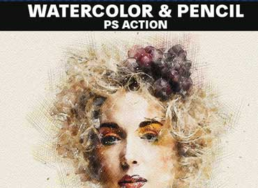 Watercolor & Pencil Photoshop Action