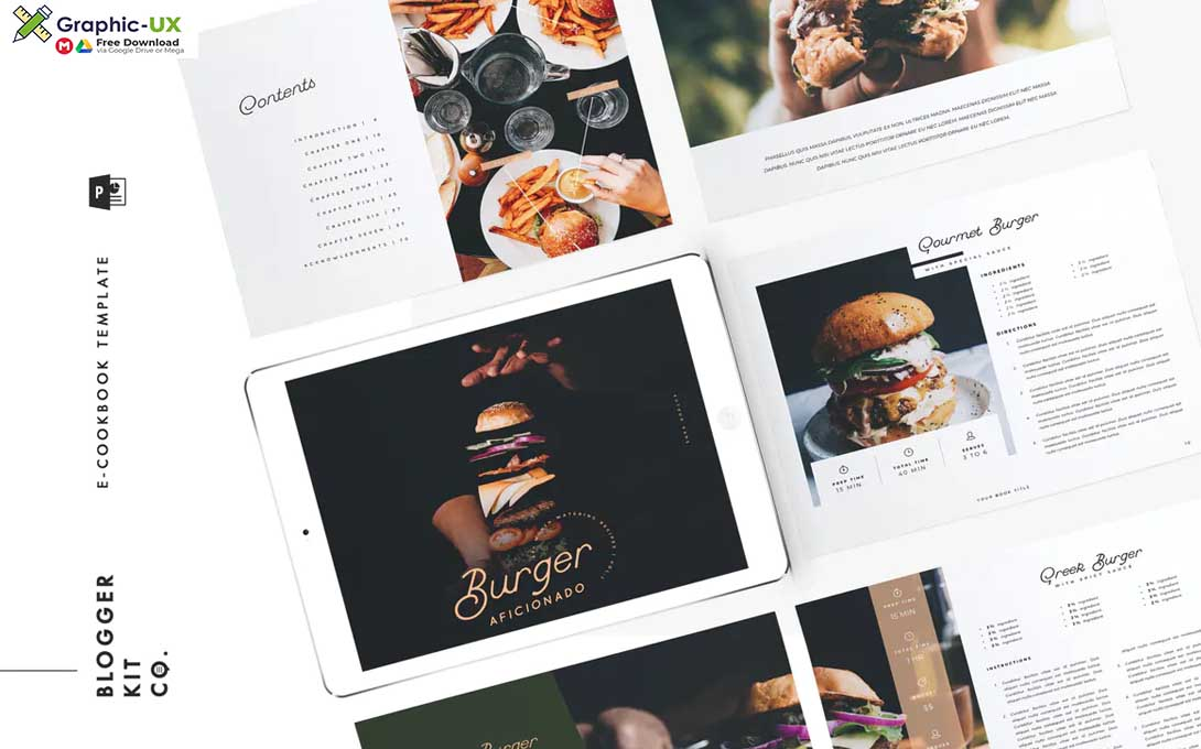 eBook Template Cookbook 16 Pages PowerPoint
