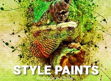 Style Paints Photoshop Action