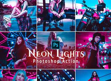 Neon Lights Photoshop Actions