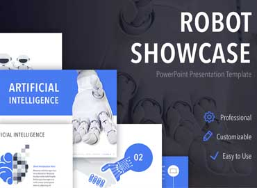 Robot Showcase PowerPoint Template