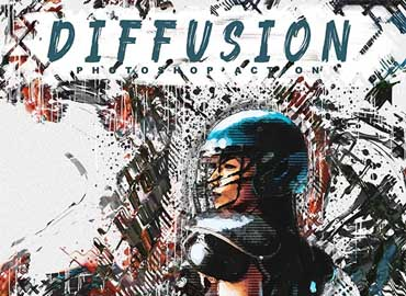 Diffusion - Artistic Photoshop Action