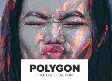 Polygon Photoshop Action