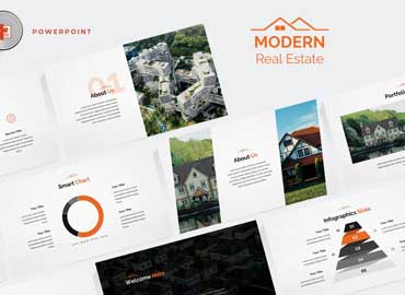 Modern Real Estate Powerpoint Template