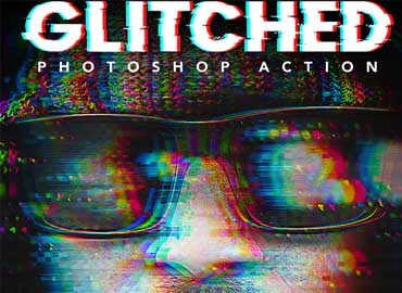 Glitched Photoshop Action
