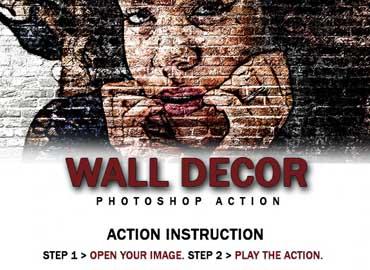 Wall Decor Photoshop Action