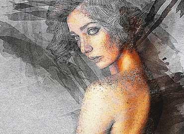 Splatter Canvas Photoshop Action