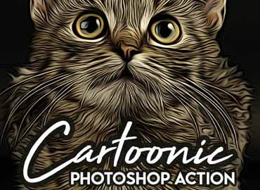 Cartoonic Painting Photoshop Action