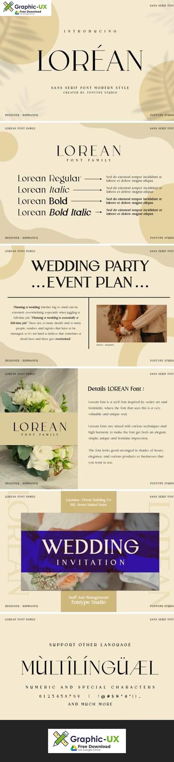 Lorean Font