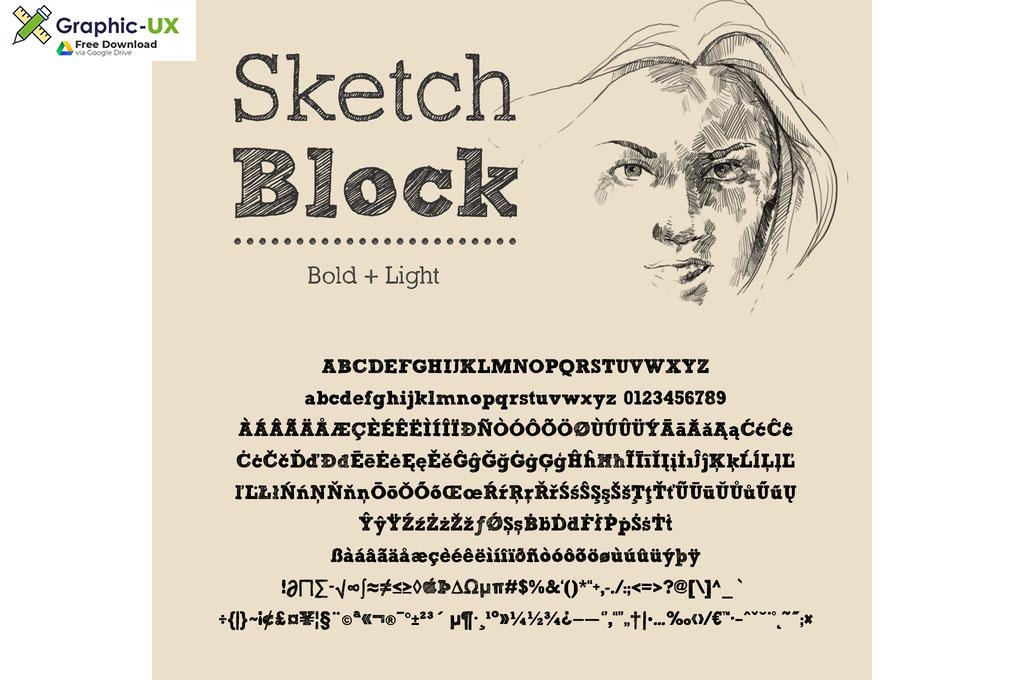 Sketch Block Font
