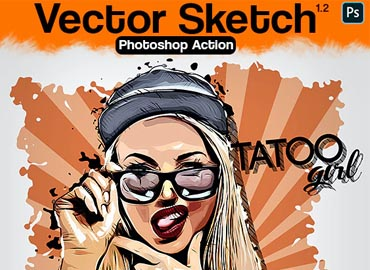 Vector Sketch Photoshop Action V1.2