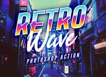 Retro Wave Photoshop Action