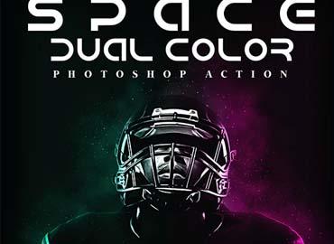 Space Dual Color Photoshop Action