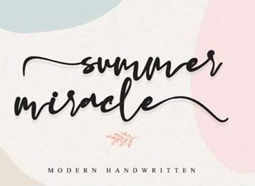 Summer Miracle Font