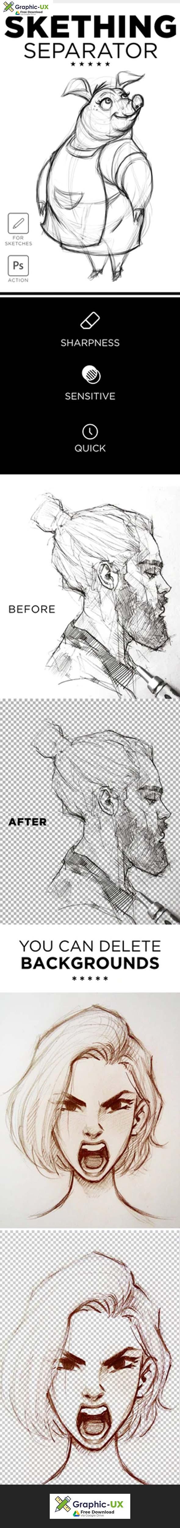 Sketching Separator Photoshop Action