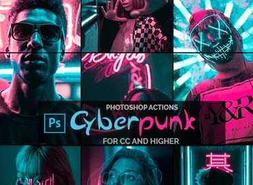 Cyberpunk - Photoshop Actions