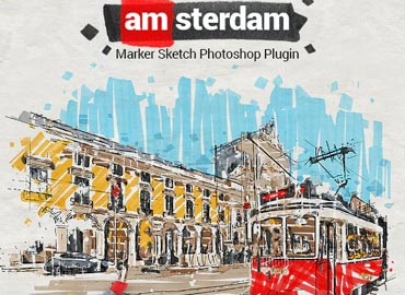 Marker Sketch Toolkit - Amsterdam - Photoshop Plugin