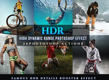 HDR Sport Magazine Photoshop 26 Effects