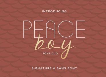 Peace Boy Font