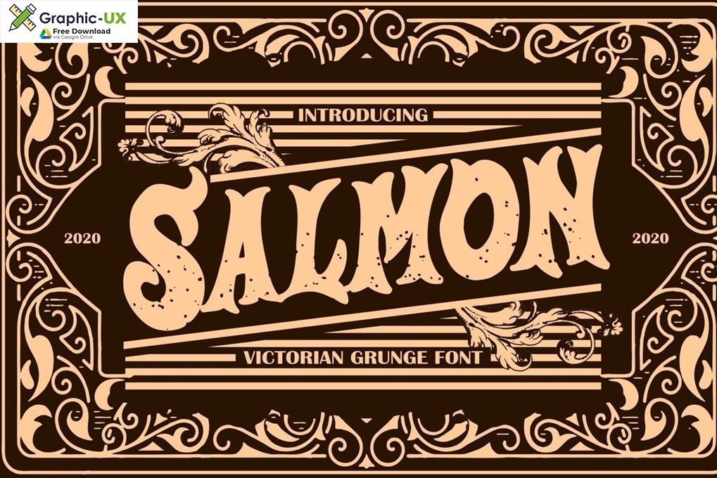 Salmon Victorian Grunge Font