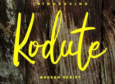 Kodute Modern Script Font pro