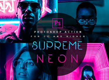 Supreme Neon - Premium Photoshop Action