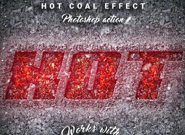 Hot Coal - Photoshop Action