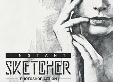 Instant Sketcher Photoshop Action
