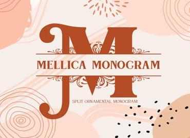 Mellica Split Monogram Font