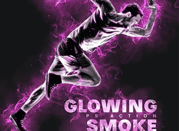 Glowing Smoke Photoshop Action