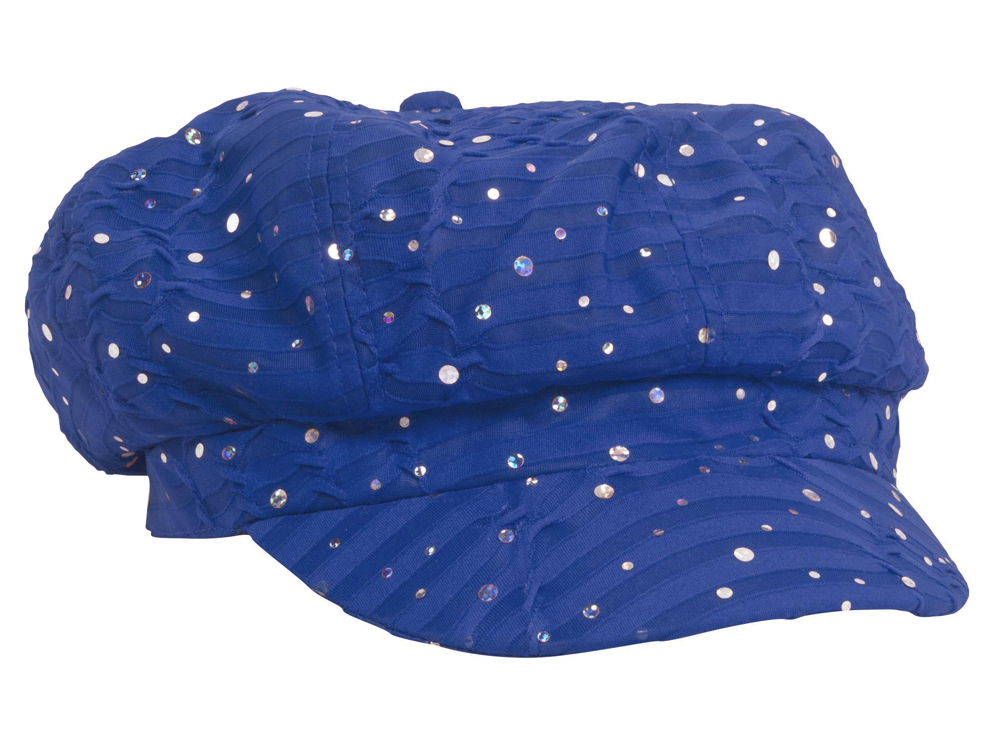 Women-039-s-Glitter-Sequin-Trim-Newsboy-Style-Relaxed-Fit-Hat-Cap thumbnail 25