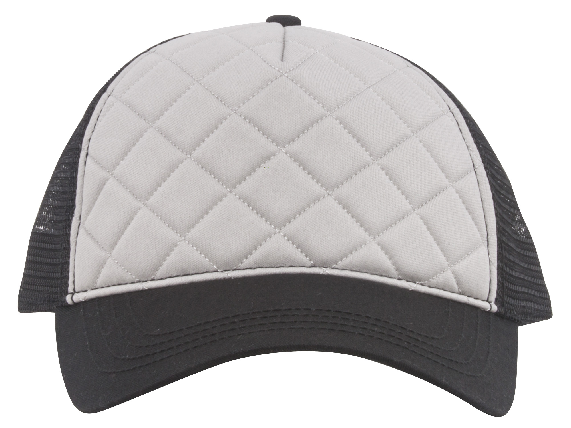 Quilted-Pattern-Fashion-Foam-Front-Trucker-Cap thumbnail 4
