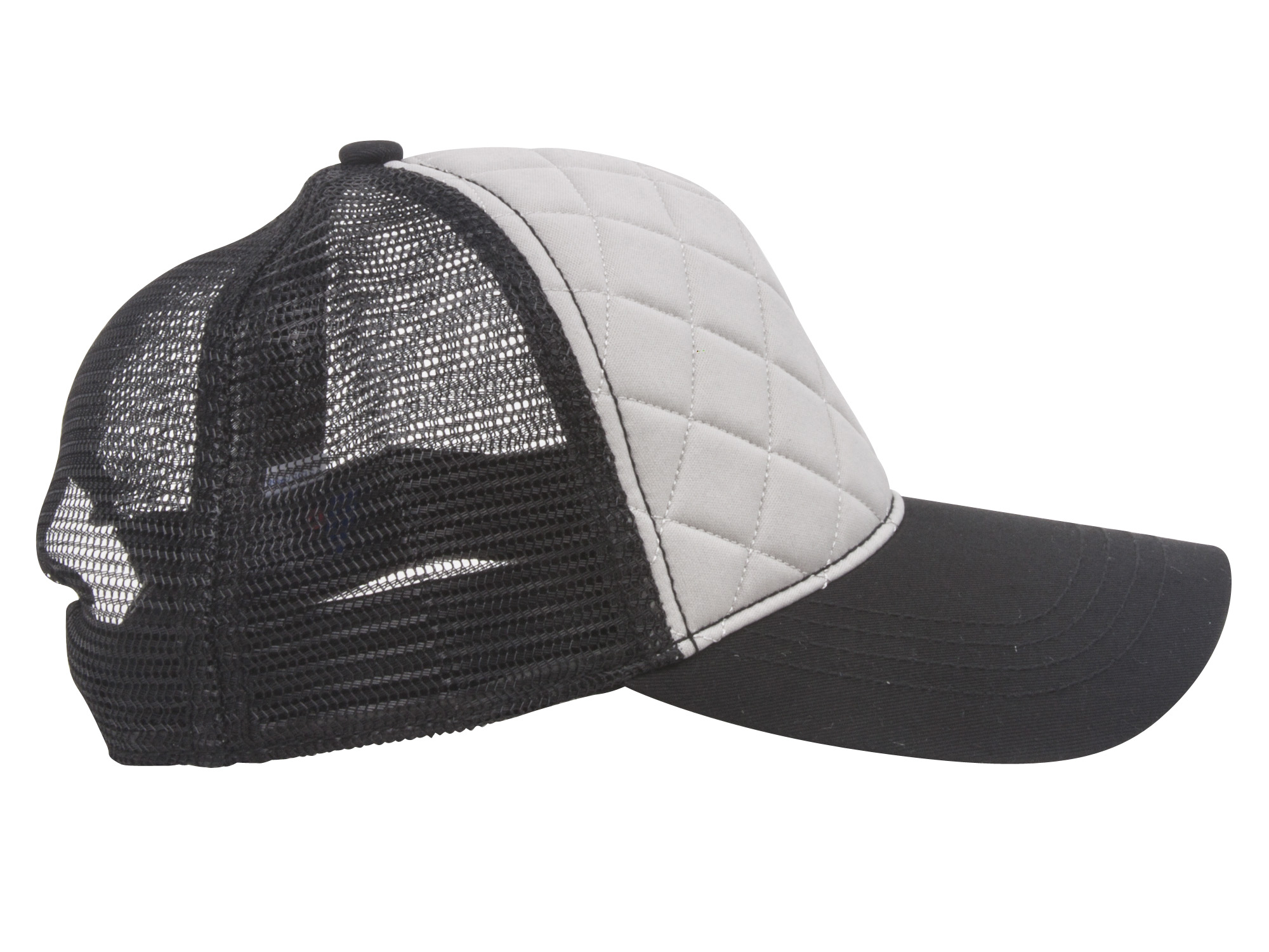 Quilted-Pattern-Fashion-Foam-Front-Trucker-Cap thumbnail 5
